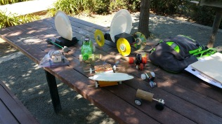 Solar, Wind and Battery powered vehicles by scouts
